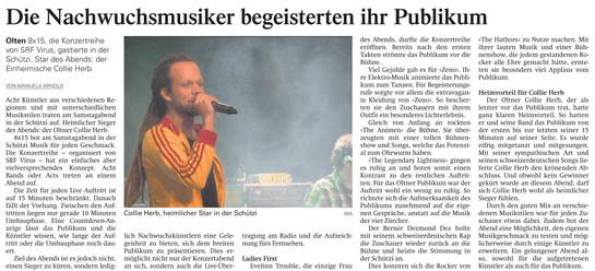 Oltner Tagblatt, 2013