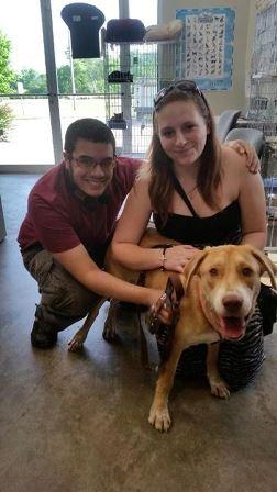 Harley was adopted May 16, 2015. Look at those smiles!