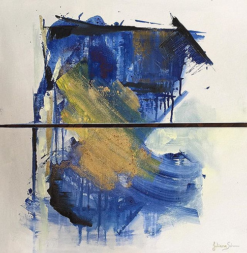 Abstract Blue - 60x60cm