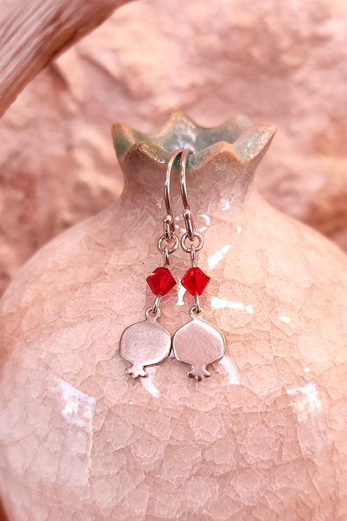 Gold/Silver pomegranate - Short earring