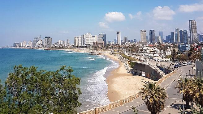View of Tel Aviv beach, view from Jaffa