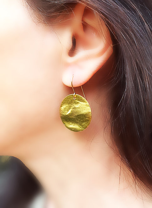 Discs Earring - 25mm gold color