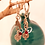 Thumbnail: Silver pomegranate earring (Silver Shaped ornament leaf)