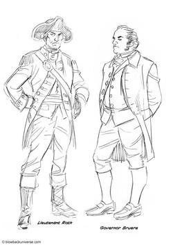 Lieutenant Roth and Governor Bruere