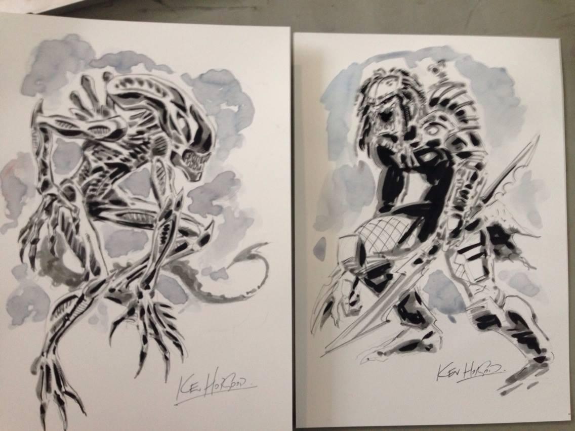 Xenomorph & Predator by Kev Hopgood