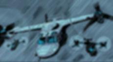 Blowback - U.S. Marines Ospreys en route in storm.
