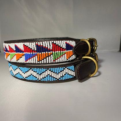 Large Maasai Beaded Dog Collar 45cm