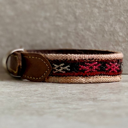 X Small Camel Dog Collar 30cm