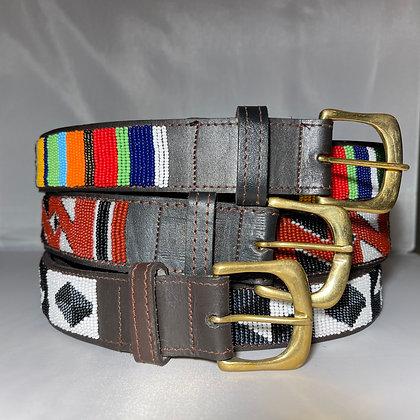 X Small Maasai Beaded Leather Belt 80cm