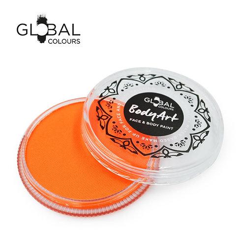 Global Neon Orange - UV Face & Body Paint Cake 32g