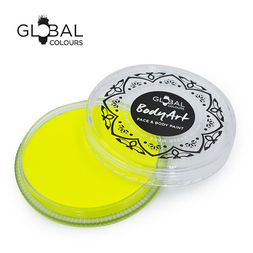 Global Neon Yellow - UV Face & Body Paint Cake 32g