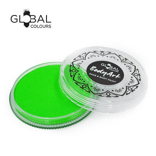 Global Neon Green - UV Face & Body Paint Cake 32g