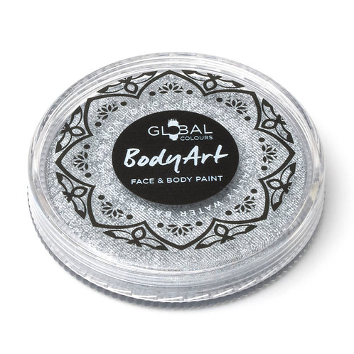 Global Metallic Silver - Face & Body Paint Cake 32g