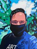 Self Portrait  of a covid Artist Warkwor