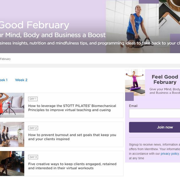 Feel Good February Content Campaign