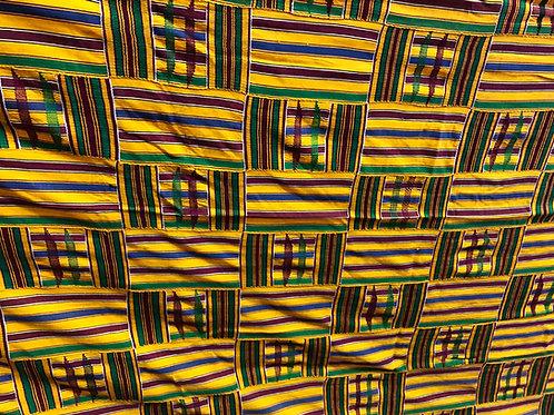Ghanaian Ashanti Kente Fabric