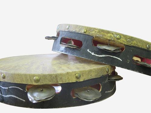 African Wooden Tambourine