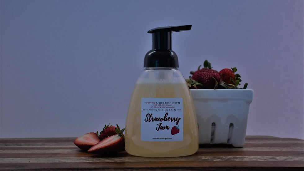 Foaming Strawberry Castile Soap