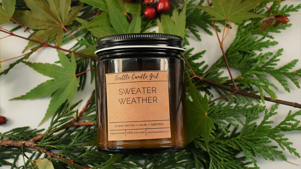 Sweater Weather- Fall Collection- Soy Candle