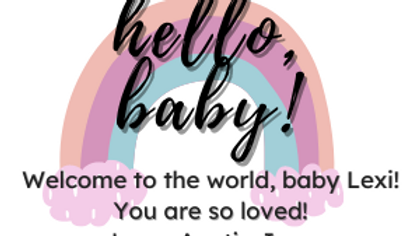 New Baby Customized Label