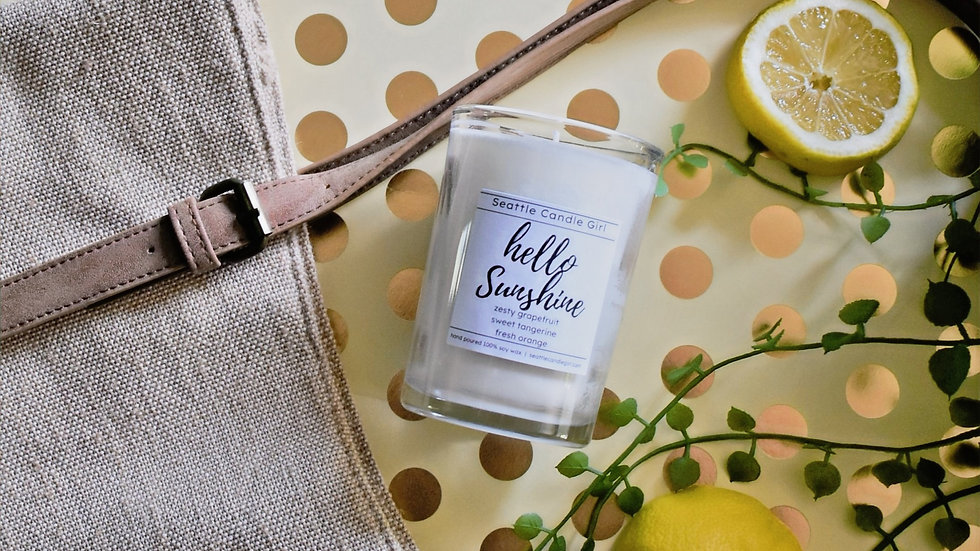 Hello Sunshine! Soy Candle