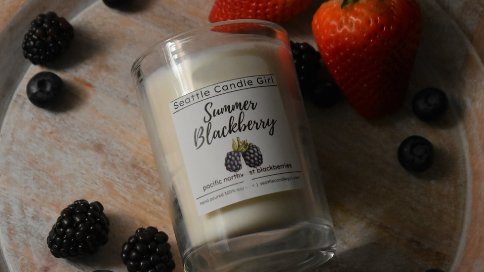 Summer Blackberry Soy Candle