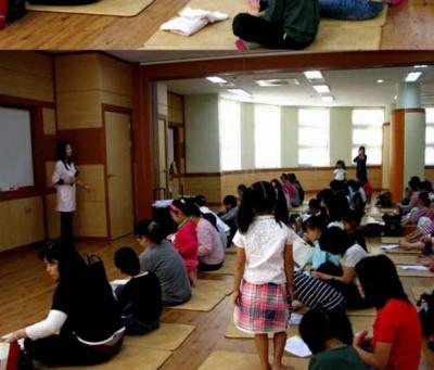 문화센터 러브스쿨에서         (건강한 발관리법 강의)