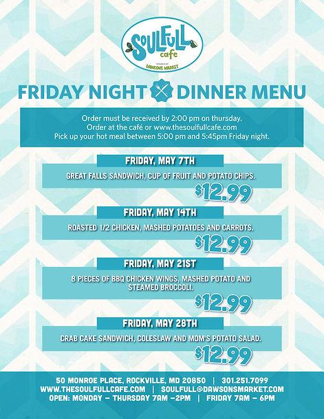 Soulfull Friday Night Dinner May_Vertica