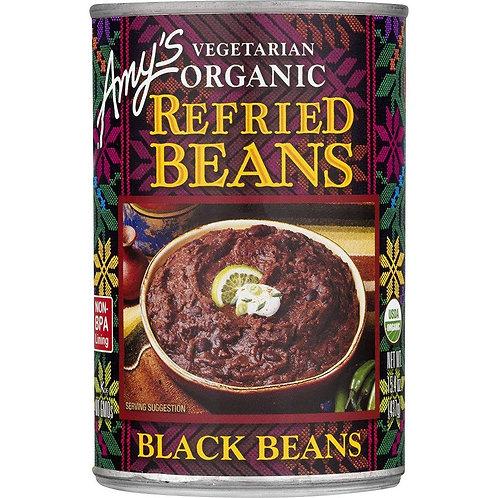Amys Beans Refried Black