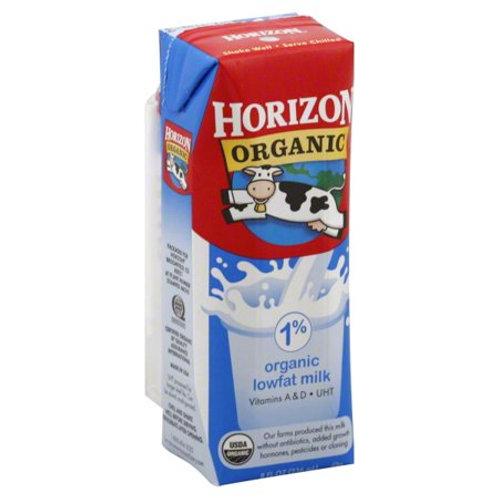Horizon Org 1% Lowfat Milk Singl Shelf Stable