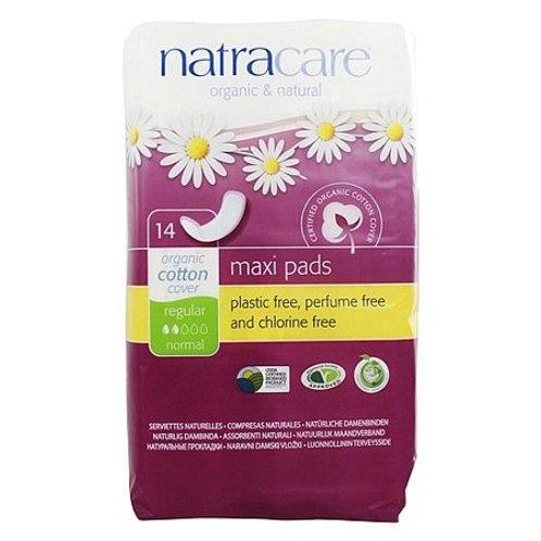 Natracare Press On Pads Reg