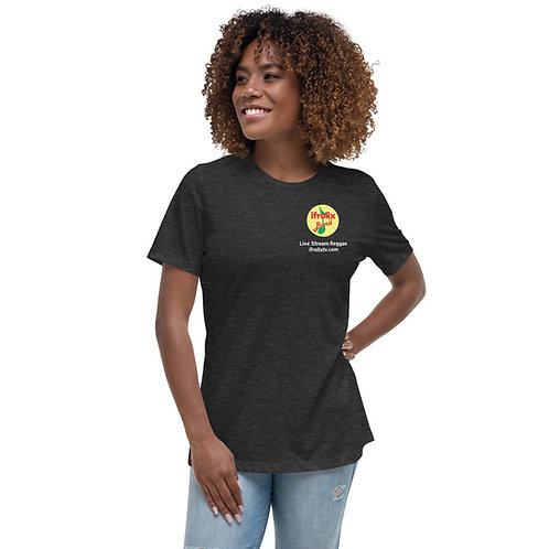 Women's Relaxed T-Shirt - Dark Colors with White Writing