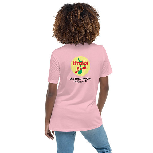 Women's Relaxed T-Shirt - Light Colors with Black Writing