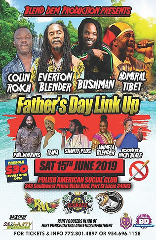 Fathers day link up show flyer