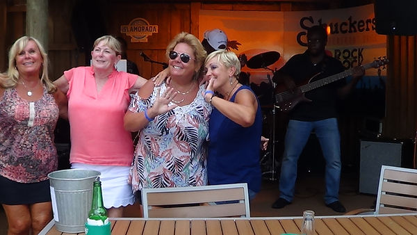The ladies having fun at shuckers