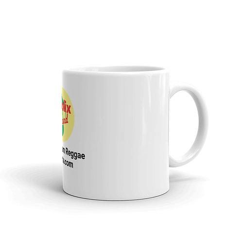 White Glossy Coffee or Tea Mug with Live Stream Reggae Logo