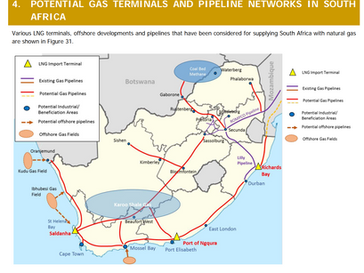 Natural gas pipeline and floating gas terminal proposed for St Helena Bay on Cape West Coast