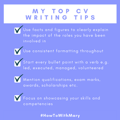 My top CV writing tips