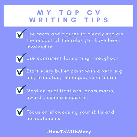 My top CV writing tips