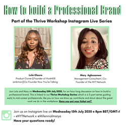 Instagram Live for the Now You're Talking Network on How to build a professional brand