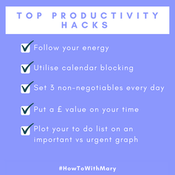 Top productivity hacks