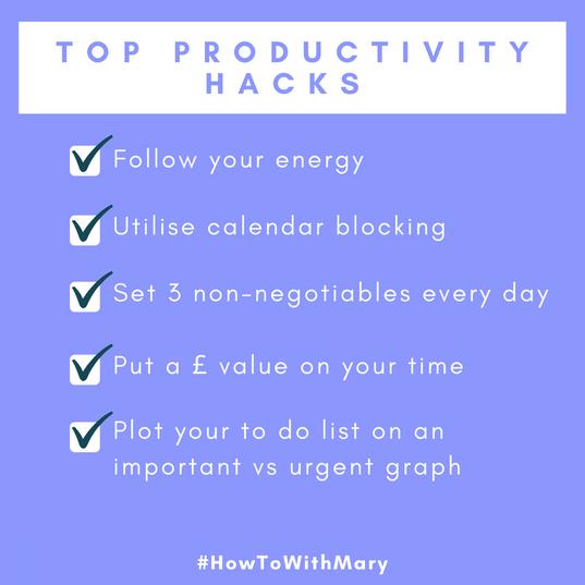 Top productivity hacks