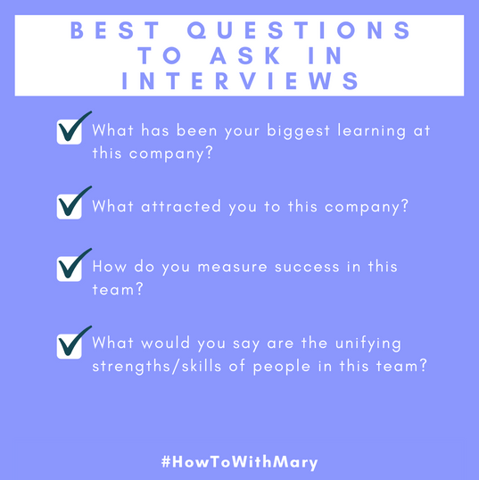 Best questions to ask in interviews