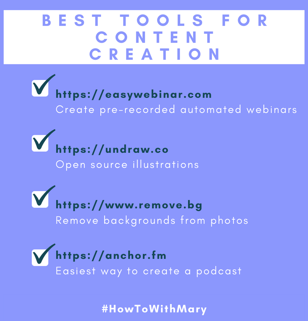 Best tools for content creation