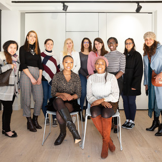 Smiles all around at the NYT Level Up Workshop with Broadgate for IWD 2020