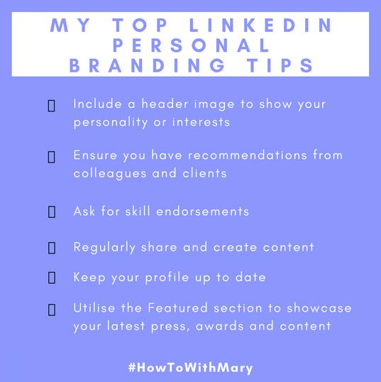 My top LinkedIn Personal Branding tips