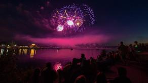 Management team fireworks