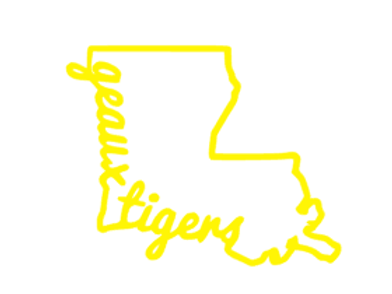 Louisiana Geaux Tigers Decal