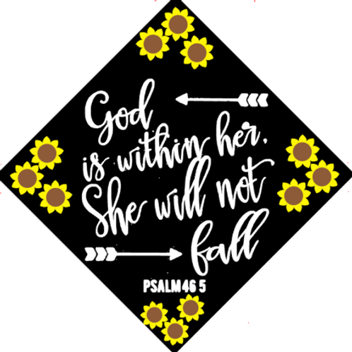 God is Within her Grad Cap