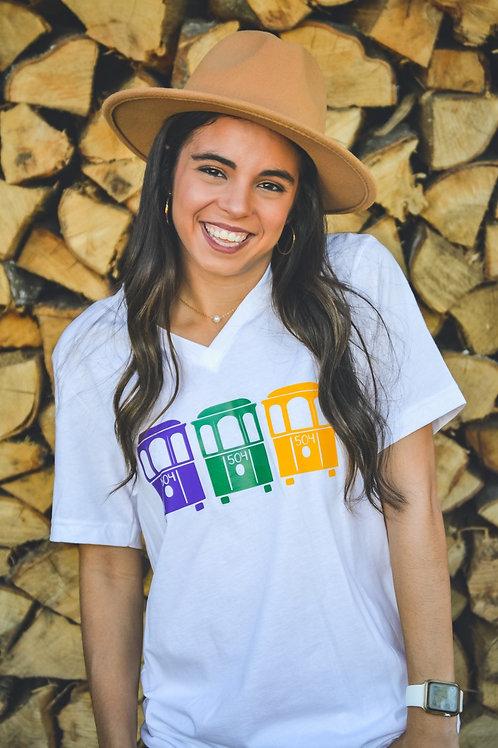 Mardi Gras Street Car Tshirt